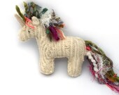 Crazy Mane Unicorn - Recycled Wool Sweater Plush Toy
