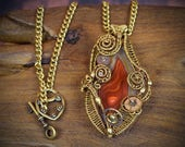 Wire wrapped pendant - steampunk costume - wasteland costume - burning man outfit - steampunk outfit - post-apocalyptic wasteland cosplay