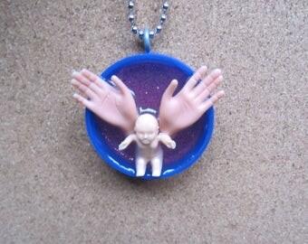 Sale Item - Fertility necklace - upcycled Bottle Cap pendant
