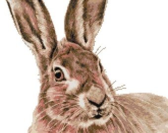 Hare (CV) counted cross stitch kit