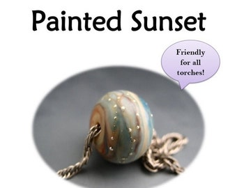 SALE Naos Glass Painted Sunset Lampwork Tutorial Pdf File Instant Download How To DIY Handmade lampwork beads SRA