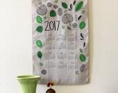 SALE: 2017 Hand-printed Linen Calendar