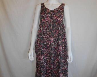 Closing Shop Sale 40% Off 90s vintage long midi dress,  90s floral rayon dress
