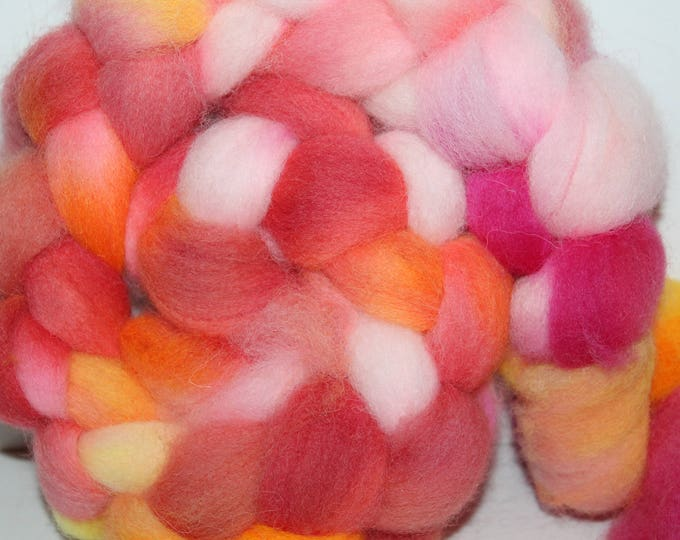 Kettle Dyed Cheviot Wool Top.  Easy to spin. 4oz  Braid. Spin. Felt. Roving. C156