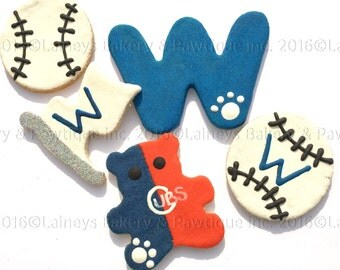 Laineys Chicago Baseball Sport Dog Treats