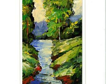 FREE SHIPPING Bobbi Doyle-Maher Southern Landscape  Original painting Acrylic on paper
