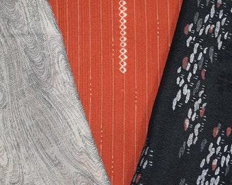 Vintage Japanese Kimono Fabric Bundle 3 Sleeve Mix Crafting - Showtime!