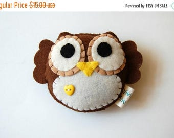 35% SALE Eco Friendly Plush Owl Toy / Stuffed Animal