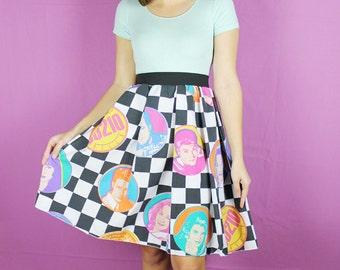 S Beverly Hills 90210 Skirt, Vintage Skirt, 90s skirt, HANDMADE Skirt, womens 90210 skirt, vintage Beverly Hills skirt