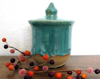 Lidded Jar - Ceramic Jar - Stoneware Jar - Clay Jar - Wheel Thrown Pottery - Stoneware