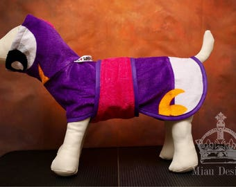 Bathrobe for small dog / Bathrobe / Dog spa day / Towel for dog