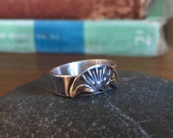 Sterling Silver Ring with Navajo Influence - any size.