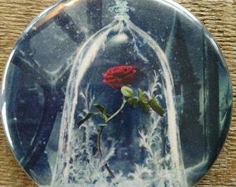 Enchanted Rose Beauty and Beast Pocket Mirror