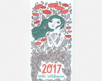2017 Wall Calendar (colour it if you like, or leave it black and white!)