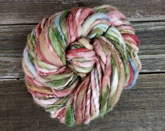 Bulky Merino Thick & Thin Handspun Yarn, Hand Spun Yarn
