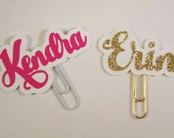 Custom Name Planner Paperclip Made to Order