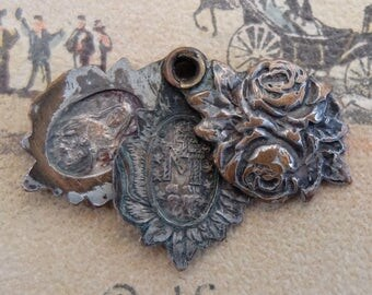Vintage Religious Slide Mary Medal Charm
