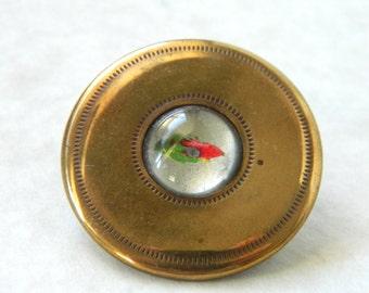 Vintage Large Metal Gay Nineties Button
