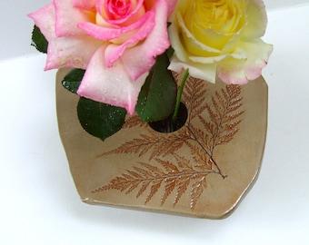 Handmade Pottery Fern Vase