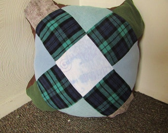 Upcycled Throw Pillow - Patchwork