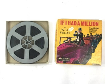 If I had Million vintage 8mm film W. C. Fields Movies by Blackhawk films and Castle Films movies No. 860 original box