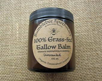 Organic 100% Grass-fed Tallow Balm - Whipped or Solid Options!