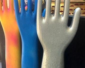 Collection of Porcelain Glove Molds, Repaint Vintage Glove Molds 3 Piece