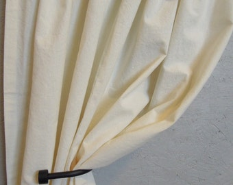 Ready-Made Hemp/Cotton Pocket Top or Flat Top Curtains, Window Coverings, Organic, 52x71