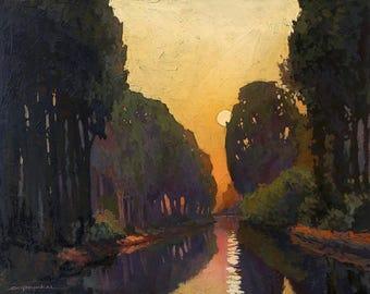 Quiet Morning - Giclee Fine Art PRINT of Original Painting matted 16x20 by Jan Schmuckal