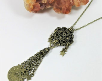 Steampunk Antique Bronze Necklace