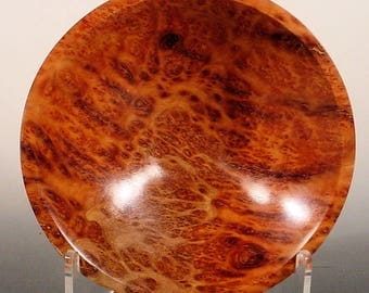 Exotic Amboyna Burl Turned Wood Bowl number 6571 by Bryan Nelson