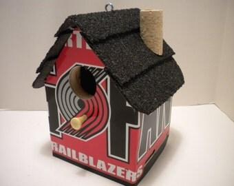 Portland TrailBlazers......License Plate Birdhouse