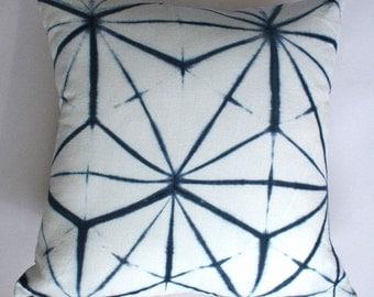 Asanoha Pillow in Indigo