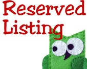 Reserved listing for lilcrocus321