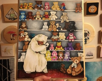 The Bear Bear Collector - Original Large Painting