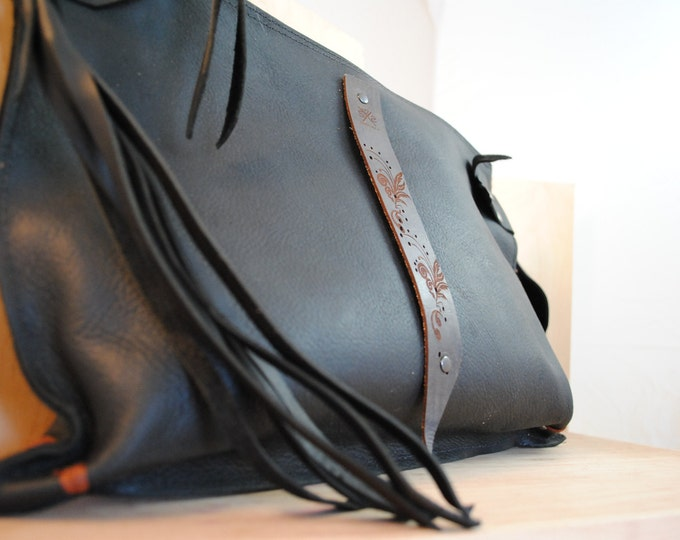 Featured listing image: Leather Tote Bag, Leather Bag, Leather Bags women, leather handbag, zipper leather bag, leather purse, leather bag handmade