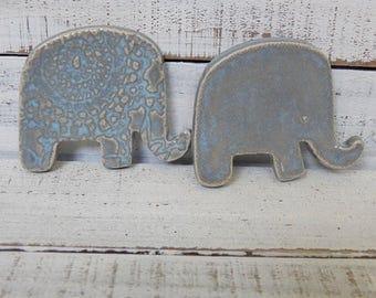 Made to order - Elephants- Coffee Spoon Rests - Elephant Favors - trinket dishes - Tea bag rests- Ring Holders- wedding favors- shower favor