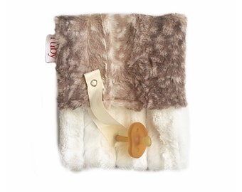 Fawn Minky Binky Blanket