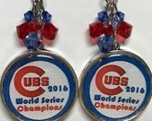 Chicago Cubs World Series Champions Double Sided Earrings!