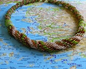 Peyote Spiral necklace (Rhodes)