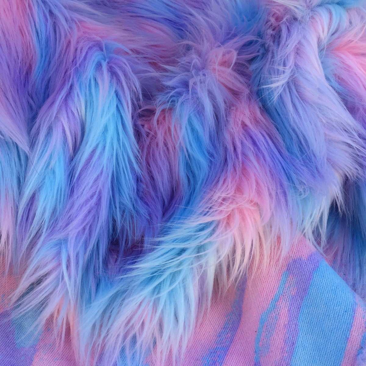 Pastel Puff - quality pink blue and purple long pile fluffy ...