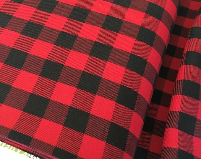 "Plaid Fabric, DIY Plaid Scarf fabric, Lightweight fabric, House of Wales, Checkers fabric, Buffalo Plaid, Plaid Scarf Fabric, 1/2"" Checks"