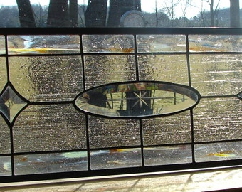 stained glass panel Crystal Oval Star transom