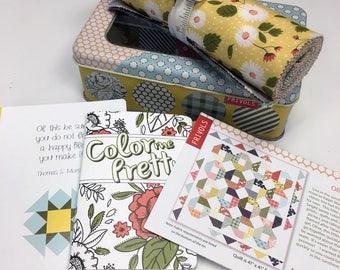 "SALE 50% Off Moda Frivol 9 Little Miss Sunshine Fabric Quilting Mini Quilt Kit 41"" x 41"" Lella Boutique"