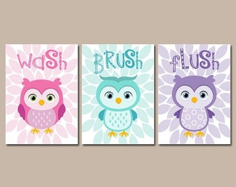 Items Similar To Owl Bathroom Decor Home Decor Kids