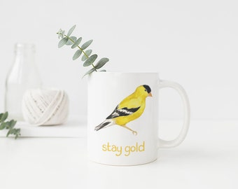 Goldfinch Mug / Ceramic Mug / Washington Mug / Seattle Mug / Pacific Northwest Mug / Cascadia Mug / Washington Gifts / Seattle Gifts