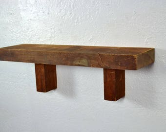 """Shelf barnwood 18"""" x 5"""" x 5.5"""" great for a rustic style home"""