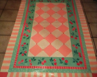 Floorcloth  COUNTRY COTTAGE   decor 4'x6'