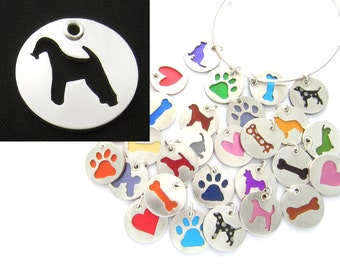 Airedale Sterling Silver Necklace Pendant Charm - Lots of Colors