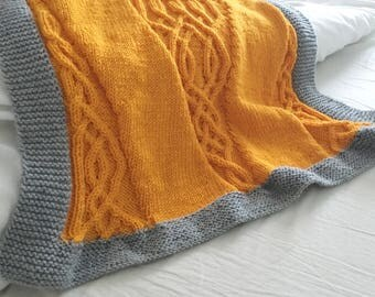 Irish Knit Baby Blanket Pattern : Celtic blanket knitting pattern celtic cable design Celtic Aran Afghan irish ...